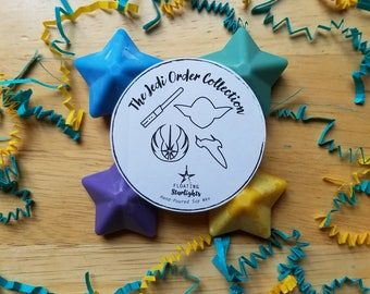 Jedi Order Wax Melts / Star Wars Candles / Obi-Wan Kenobi / Qui-Gon Jinn / Yoda / Luke Skywalker / Movie Lovers / Star Wars Gift Set / Nerd
