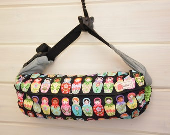 Baby Carrier Cover (Reversible) Matryoshka Dolls/Solid Black (Dolled Up) Tula/Ergo/Kinderpack/Beco/Boba