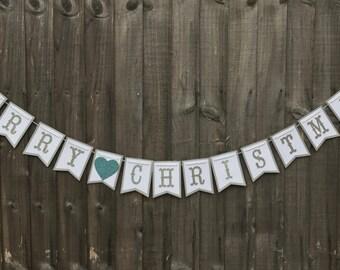 Christmas Bunting, Merry Christmas Bunting, Christmas Banner, Christmas Garland