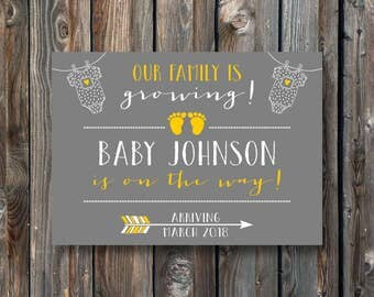 PRINTABLE Pregnancy Announcement Card-Pregnancy Announcement Sign–Pregnancy Reveal Sign-Baby Announcement Sign Card-Pregnancy Card-PA02