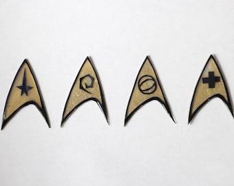 Star Trek Badge Set Pin or Magnet