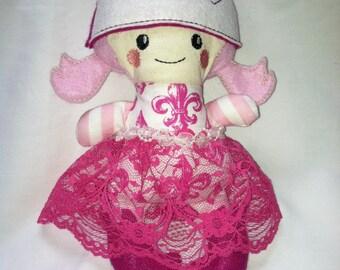 Pink elf dolly rag doll