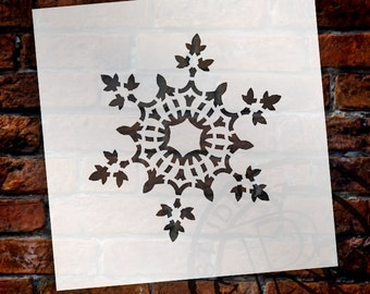 Christmas Shapes Stencil - Frosty Snowflake - Select Size - STCL1565 - by StudioR12