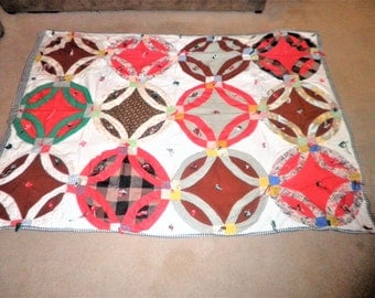 Vintage Full size colorfull and decorative bed quilt