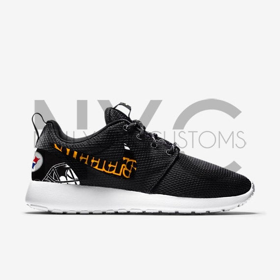 c19d7717fffc Pittsburgh Steelers 16  Nike Roshe One Run Custom Men by NYCustoms 30%OFF