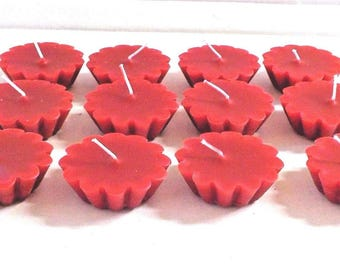 12 Pack of Scented Floating Red Candles You Pick The Fragrance