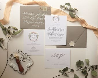 DIGITAL FILE- The Brooklyn Wedding Invitation Suite