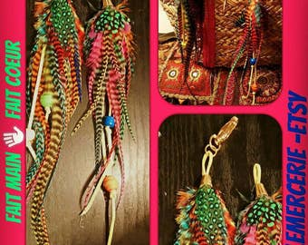 1 bag jewelry assortment and 1 pendant multicolored feathers