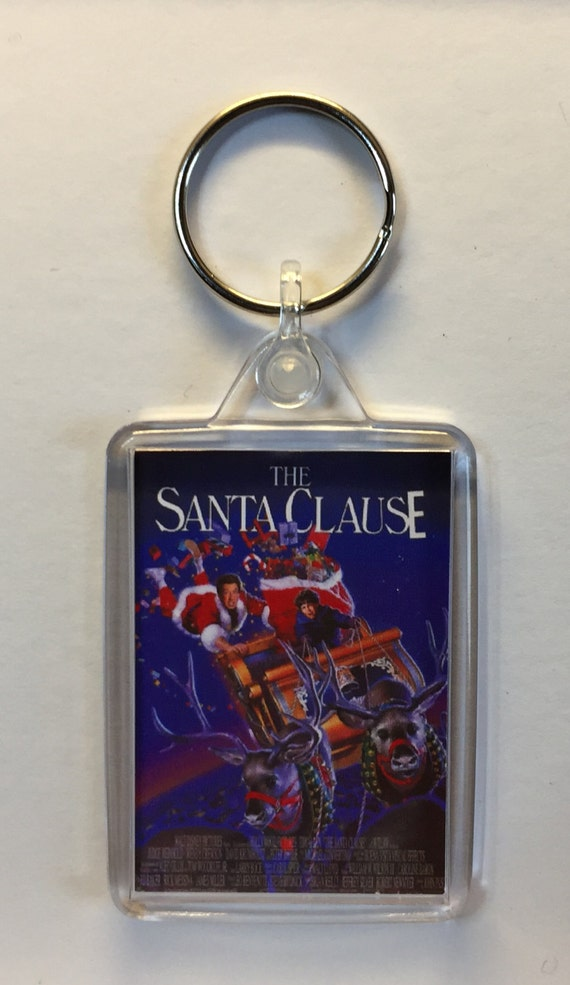Christmas Movies The Santa Clause Tim Allen Keyrings Keychains available in Blue White Red or Clear connectors