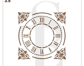 Grand Central Station Style Clock Stencil