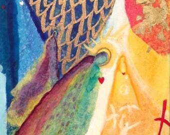 Worship In Spirit And Truth.  Original Christian Art.  Multimedia