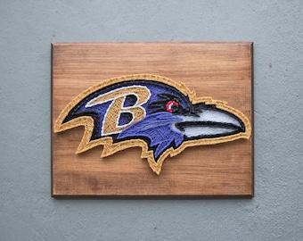 Baltimore Ravens String Art, Ravens Baby, Baltimore Art, Maryland Wall Art, Ravens, Mancave Decor, Football Mom, Gift for Him, Gift for Her