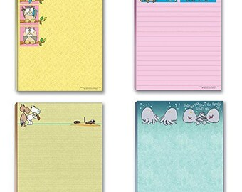 Cute Note Pad Assorted Pack - 4 Funny Notepads, Notepad Set, Gift Set - 617
