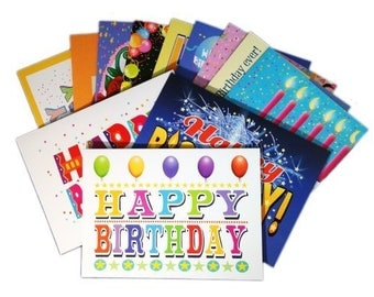 Birthday Card Assorted Pack - Set of 24 Cards & Envelopes - Blank Cards - 701