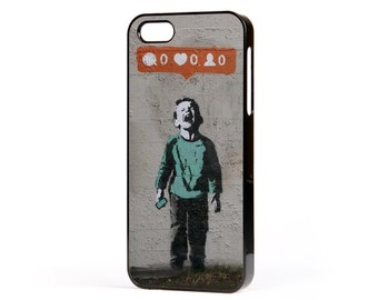 Banksy Social Networking Phone Case to Fit the Apple iPhone (all models)