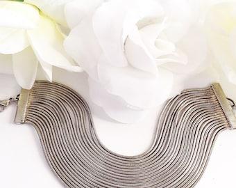 Silver Bracelet, For Her, Vintage Bracelet, Flexible Bracelet, Multi Chain Braceleit, Wide Bracelet, Wide Silver Bracelet, Unique Bracelet