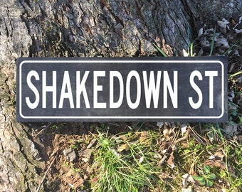 Painted Wood Sign - Grateful Dead - Shakedown Street