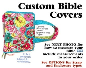 CUSTOMIZED Bible Cover with or without Hand Straps/Zipper           Pictures are SAMPLES only!!