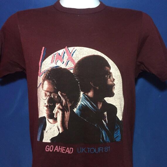 Vintage 1981 Linx UK Concert tour t shirt cult british soul funk band 80s *XS Dq1OVsX