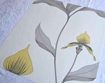 Wallpaper - Cole and Son  Sample Sheet  - 19 x 17  Yellow Orchid