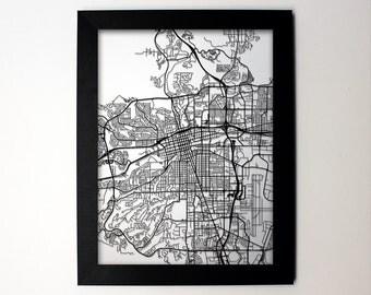 Reno Nevada Laser Cut Map, Reno NV Street Map, Map of Reno, Reno NV Map Art, Reno Wall Art, Reno Wedding, Reno Decor, Reno Gift