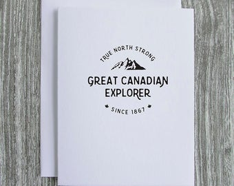 Great Canadian Explorer - Canada 150 - Letterpress Blank Greeting Card on 100% Cotton Paper