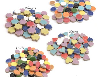 """Ceramic Mosaic Tiles - 3/4"""" (20 mm) - Your choice of color"""
