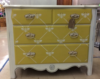 Dresser/Bedroom Furniture/Whimsical Furniture/Custom Painted