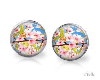 Earrings cherry blossoms 53