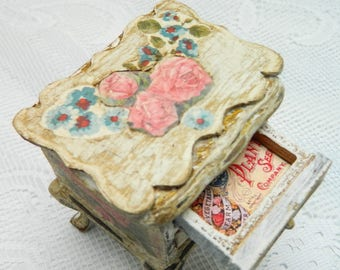 Miniature 12th scale tatty French style chest of drawers hand finished, unique for a dollhouse, doll house miniature, shabby chic