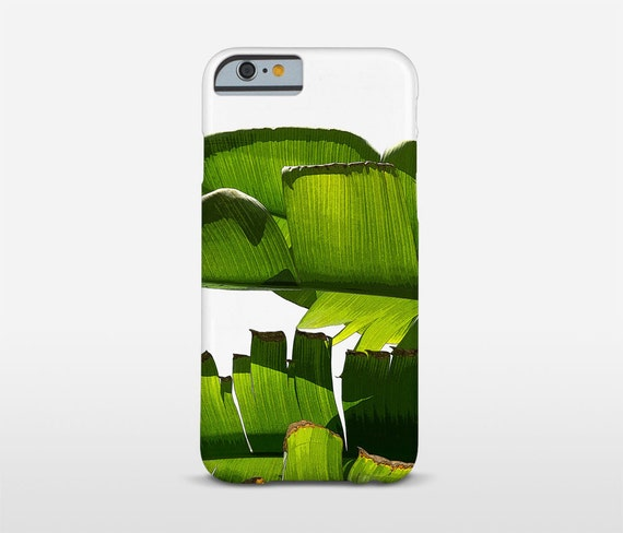 Banana Leaf Phone Case, Tropical Cell Phone, Mixed Media Art, Tough Cases, iPhone 7 Case, Sony Cases, Huawei Phones