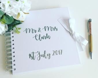 Guest book, wedding album, wedding scrapbook, memory book, medium size