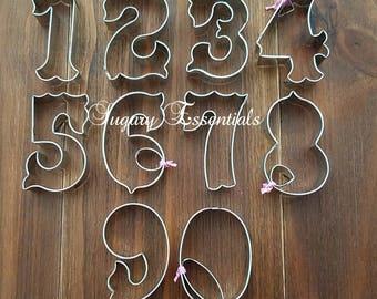 10 Pcs.Circus Font  Numbers Cutter Set
