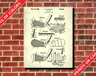 Golf Club Patent Print, Vintage Golf Poster, Golfing Wall Art, Golfer Gift, Golf Decor, Golf Wall Art, Golfing Poster