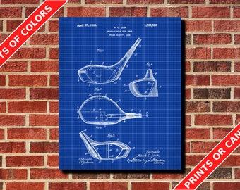 Golf Poster Golf Club Patent Print Golfer Gift Golf Wall Art Golf Driver Blueprint