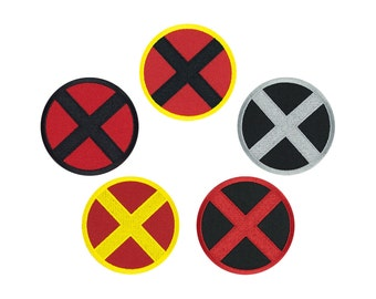 X Men - Various Colors - Embroidered Iron On Patch Iron on Applique