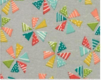Studio M Flannels for Moda Mixed Bag Pinwheels Grey 33200 12F