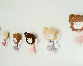 Fairy garland, fairy decor, nursery wall hanging, nursery decor, bedroom decor, baby shower decoration, birthday decoration, photo prop