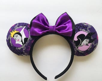 Villians Mouse Ears: Evil Queen and Maleficent
