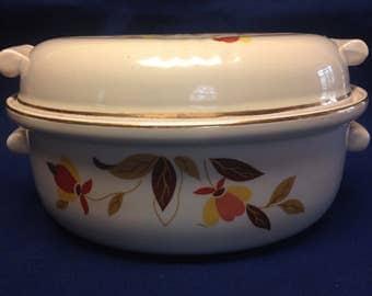 Hall's Autumn Leaf Covered Casserole  Jewel Tea