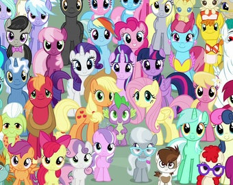 Pony Beanie Embroidery Files: Eyes + Cutie Marks - Choice of 24 Characters - Digital Download