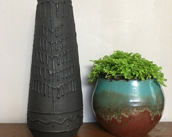Ceramic Mid Century Modern Vase Made in Romania
