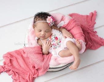 newborn romper and headband