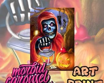 Misfits Halloween Fiend A4 Giclee Art Print