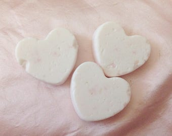 Rose and Shea Butter mini hearts bar soap