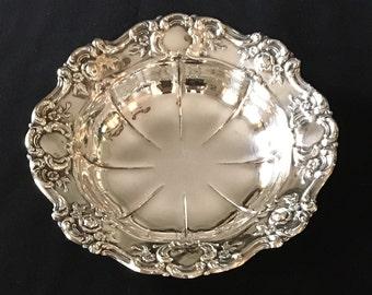 Towle Silverplate Bon Bon Bowl Old Masters 4022