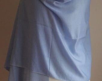 Silk blend Blue tone Pashmina Scarf Shawl