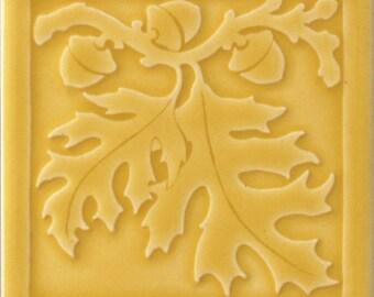 Red Oak Leaf Art tile