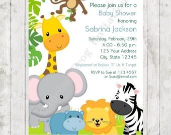 safari baby shower invitation  etsy, Baby shower