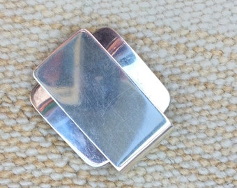 Sterling Silver Solid Money Clip with a star stamp